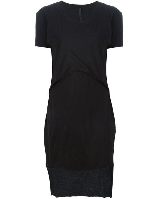 Barbara I Gongini | Женское Чёрное Многослойное Платье-Футболка