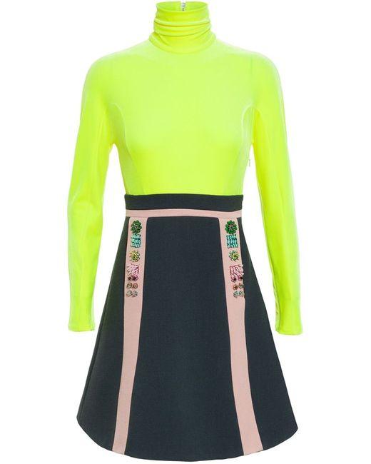Delpozo | Женское Желтый Roll Neck Dress