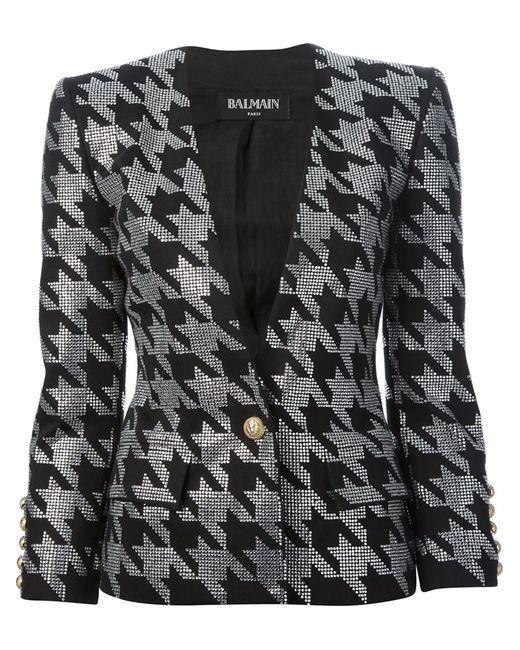 Balmain   Женская Чёрная Куртка С Украшением