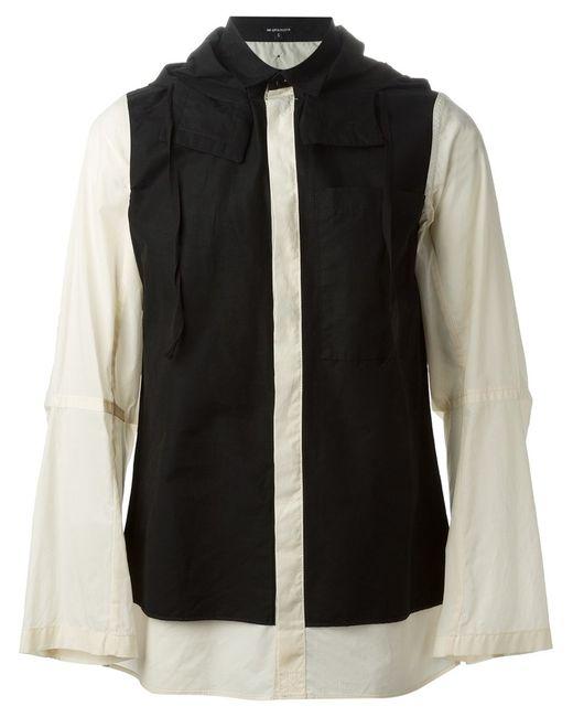 Ann Demeulemeester | Мужская Чёрная Куртка-Рубашка С Капюшоном