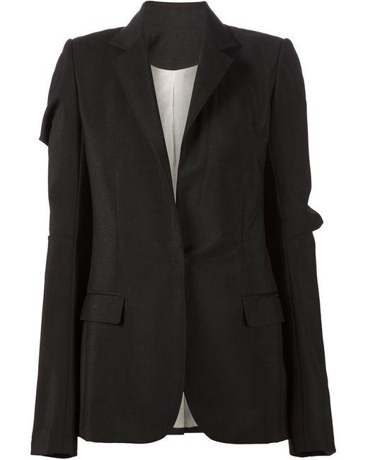 Vera Wang | Женское Чёрный Draped Sleeve Blazer