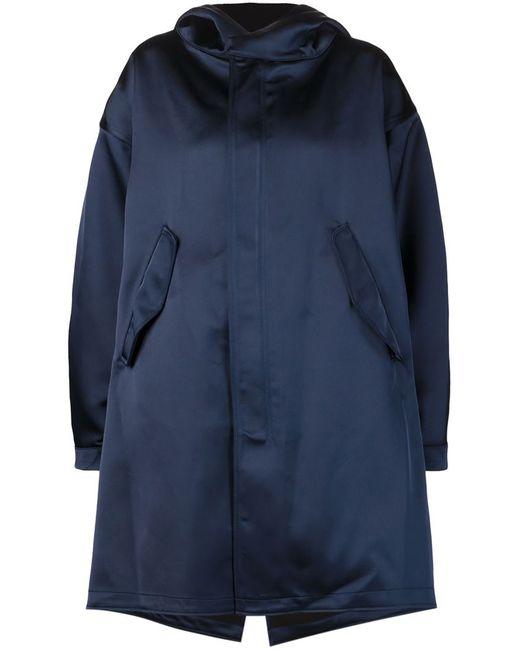 NOMIA   Женская Синяя Объемная Куртка С Капюшоном