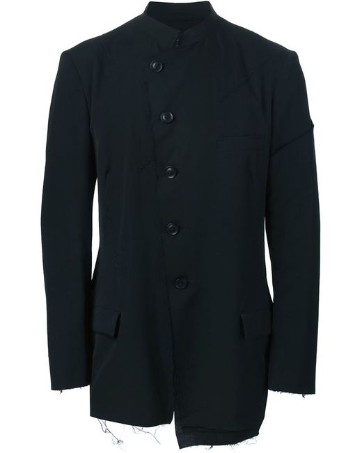 Yohji Yamamoto   Мужское Чёрный Asymmetric Deconstructed Blazer