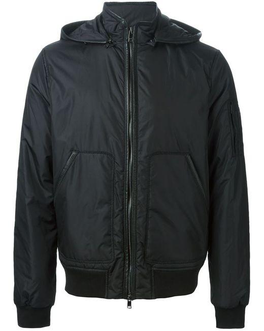 Michael Kors | Мужская Чёрная Дутая Куртка С Капюшоном