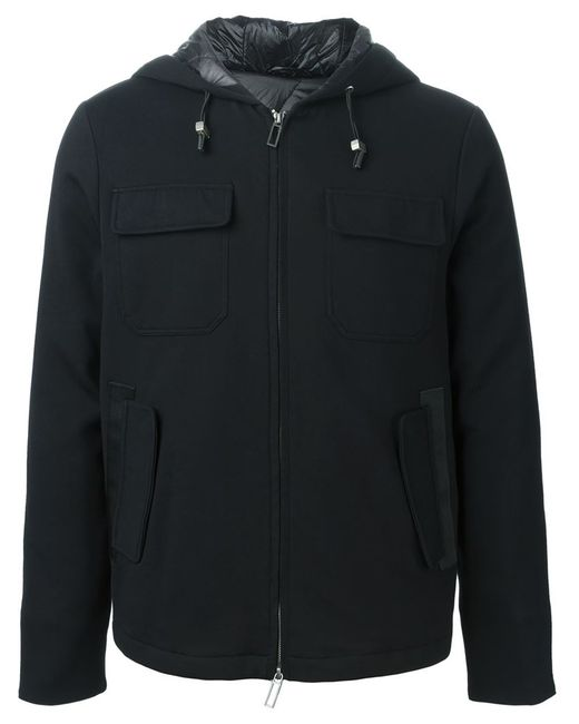 Paolo Pecora | Мужская Чёрная Куртка-Ветровка На Молнии