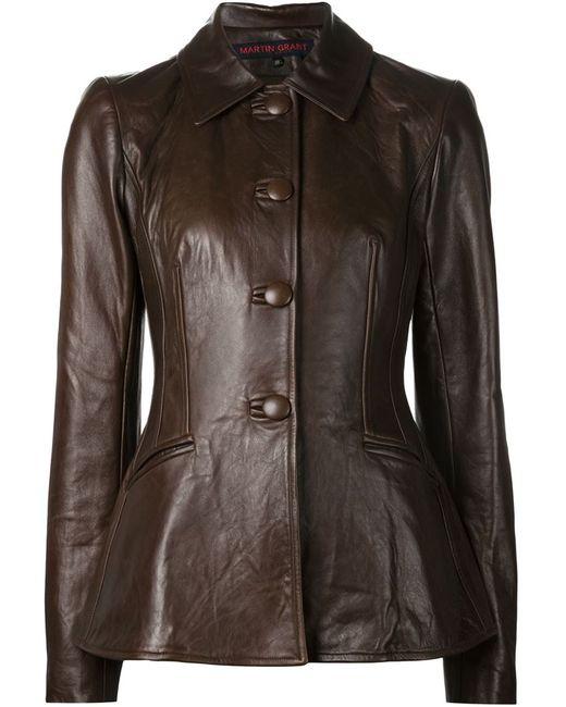 Martin Grant | Женская Коричневая Приталенная Куртка