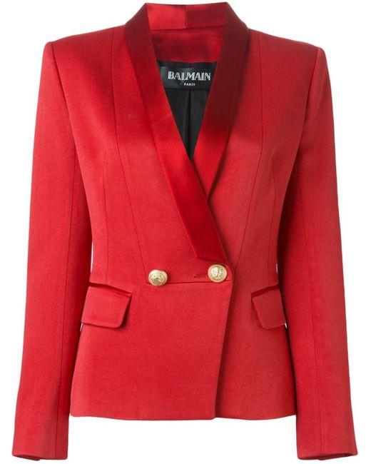 Balmain | Женское Красный Tuxedo Blazer