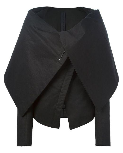 Gareth Pugh | Женская Чёрная Приталенная Куртка С Объемным Воротником