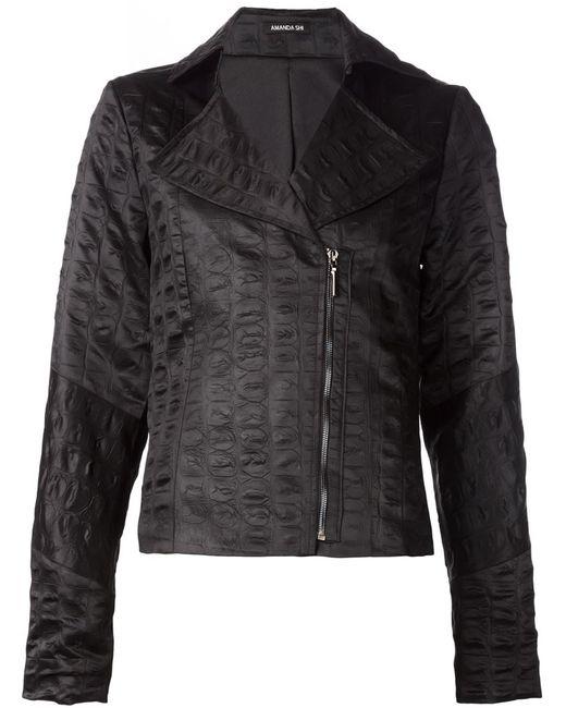 AMANDA SHI   Женская Чёрная Байкерская Куртка Lydia