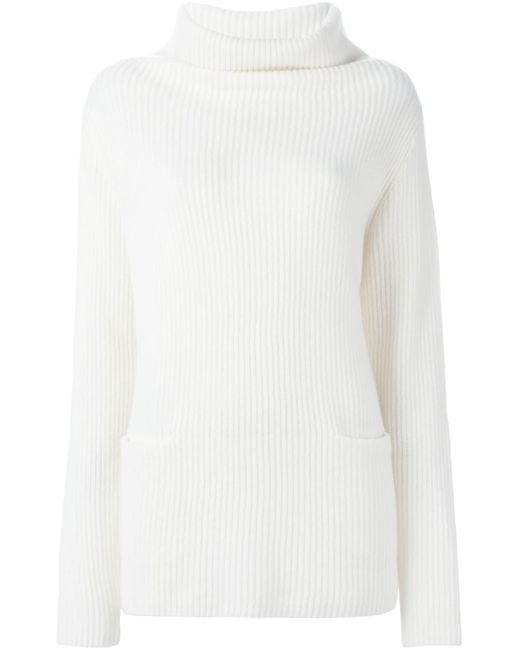 Vince   Женское Nude & Neutrals Ribbed Cowl Neck Sweater