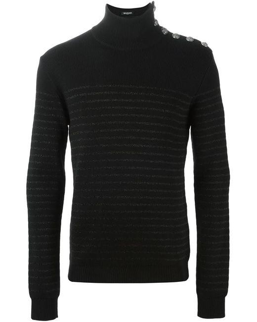 Balmain | Мужское Чёрный Turtle Neck Sweater