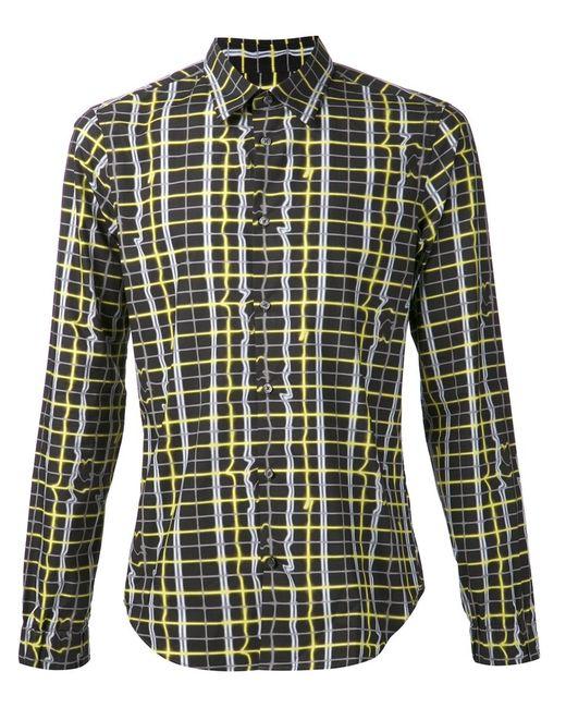Kenzo | Мужская Чёрная Рубашка С Принтом