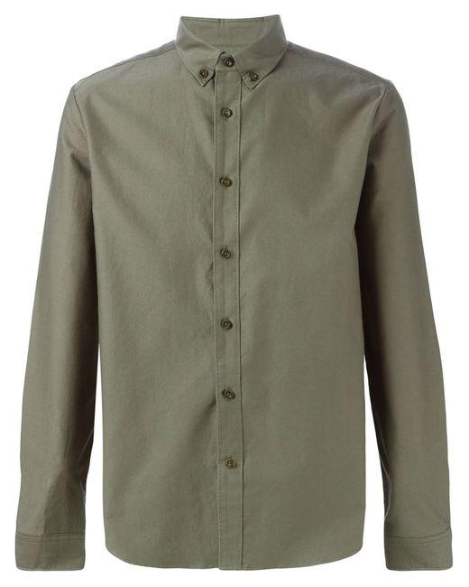 08SIRCUS | Мужская Зелёная Классическая Рубашка