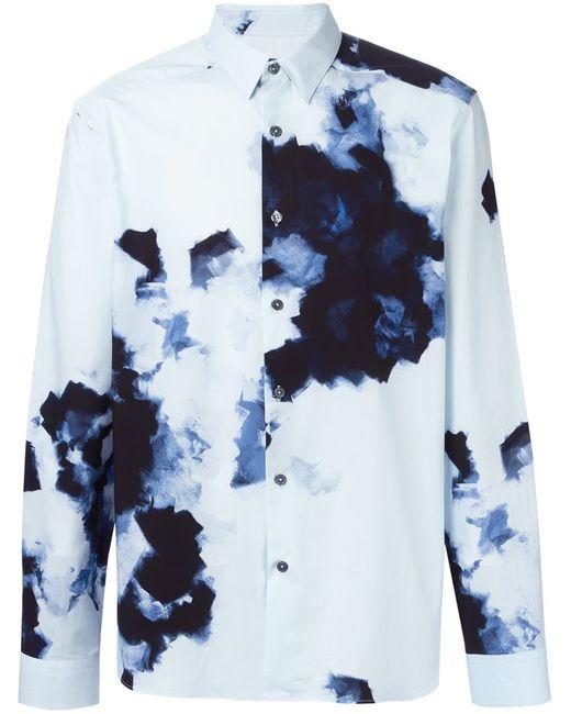 Paul Smith | Мужская Синяя Рубашка С Принтом