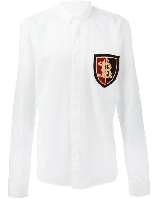 Balmain   Мужское Белый Insignia Shirt