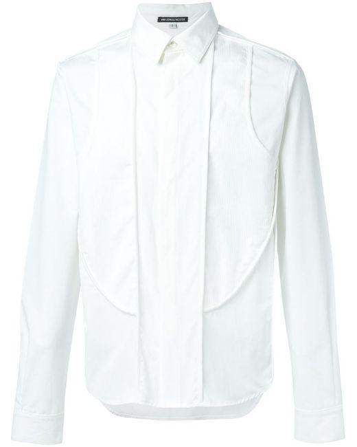 Ann Demeulemeester   Мужская Белая Рубашка С Панельным Дизайном