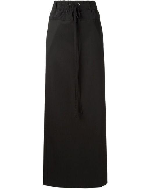 Vera Wang | Женское Чёрный Drawstring Maxi Skirt