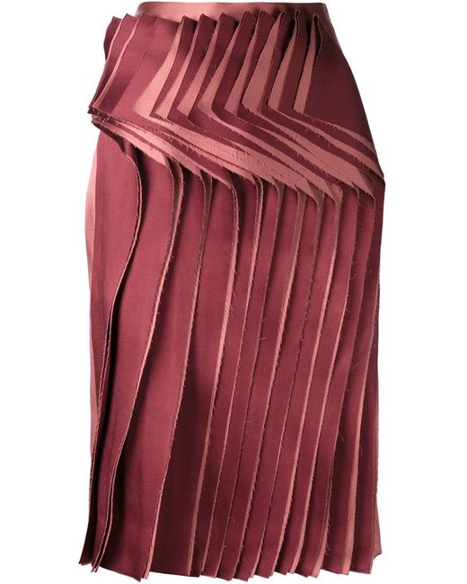AUDRA | Женская Розовая Юбка С Плиссированной Панелью Спереди