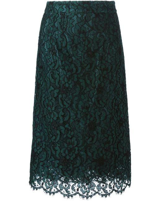 Dolce & Gabbana | Женское Зелёный Lace Skirt