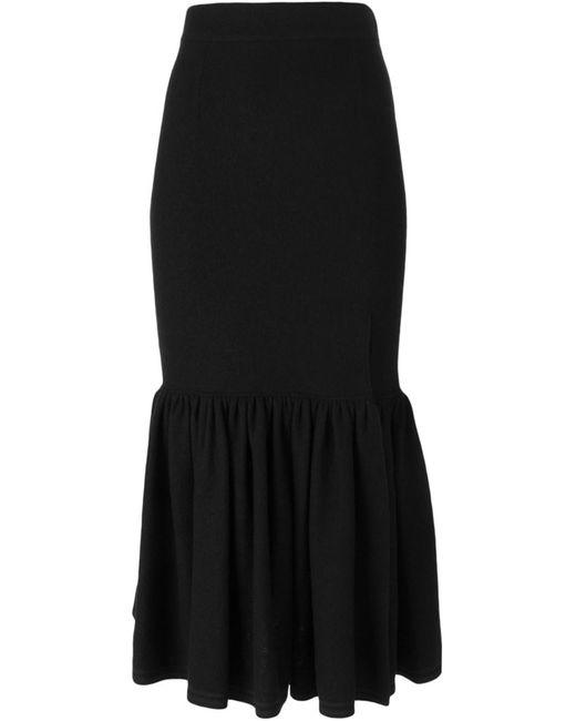 Givenchy | Женская Чёрная Юбка С Расклешенным Подолом
