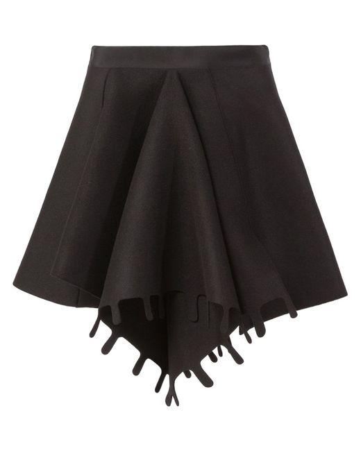 Maison Rabih Kayrouz   Женское Чёрный Front Pleat Skirt