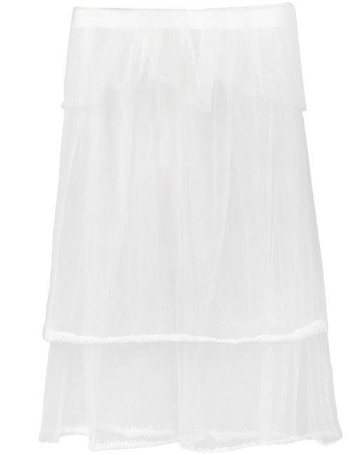 PHOEBE ENGLISH | Женское Белый Double Layered Sheer Skirt
