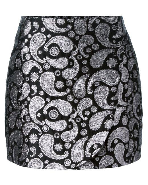 Stella Mccartney   Женское Чёрный Paisley Jacquard Mini Skirt