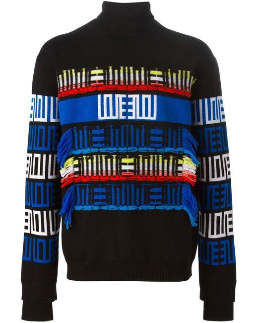 Kenzo   Мужское Чёрный Intarsia Sweater