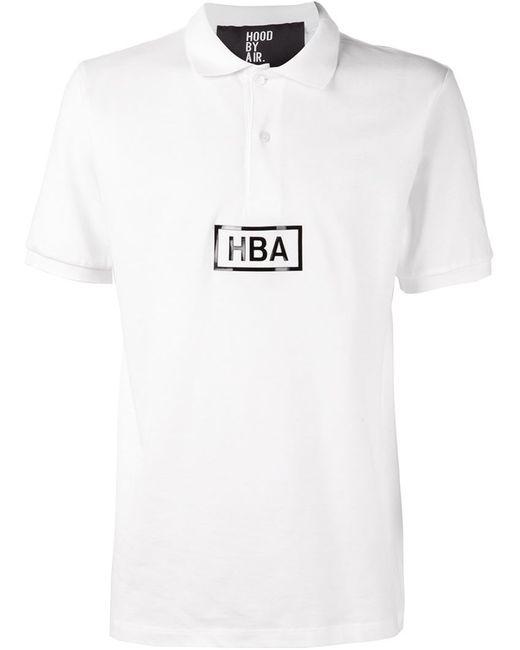 HOOD BY AIR | Женская Белая Футболка-Поло С Логотипом