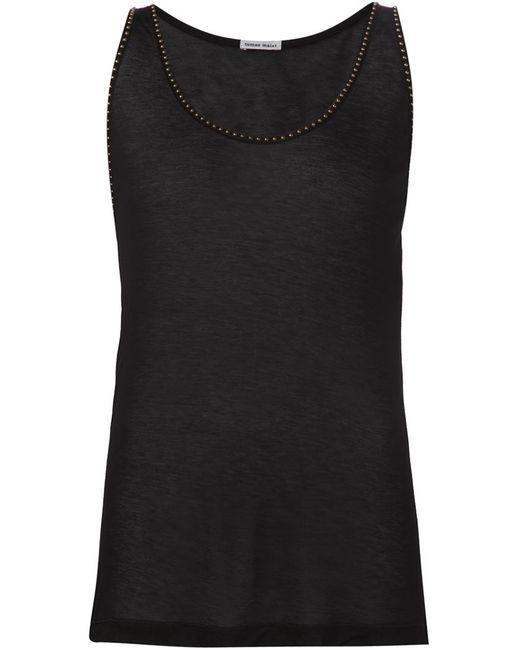 Tomas Maier | Женское Чёрный Studded Trim Tank Top