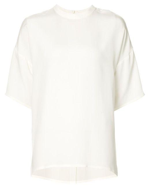 Cedric Charlier | Женское Белый Oversized Short Sleeve Top