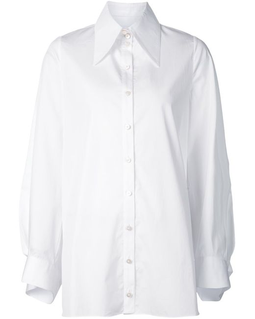 AUDRA | Женское Белый Oversized Collar Shirt