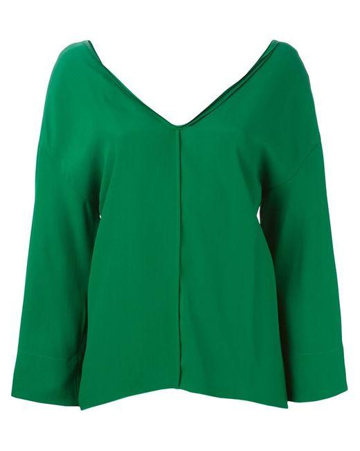 Forte Forte | Женская Зелёная Блузка С V-Образным Вырезом