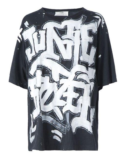 Faith Connexion | Женское Чёрный Graffiti Print T-Shirt