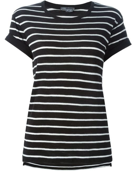 Vince   Женское Чёрный Striped T-Shirt