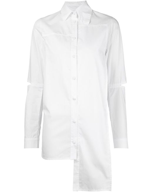 Barbara I Gongini | Женское Белый Asymmetric Cut-Out Shirt