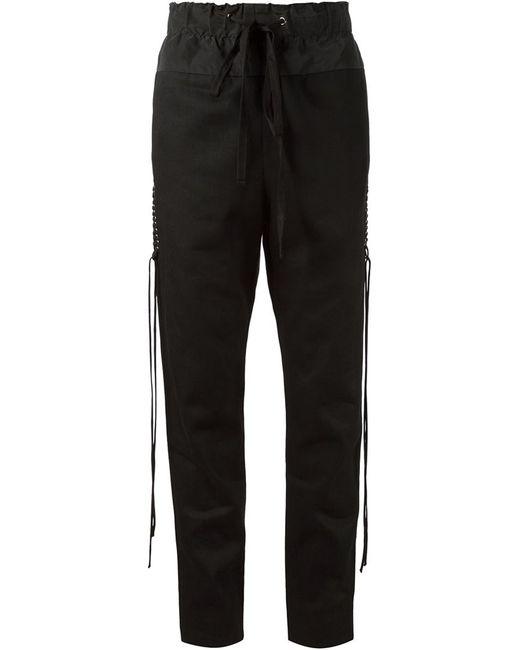 Vera Wang   Женское Чёрный Corset Detail Track Pants
