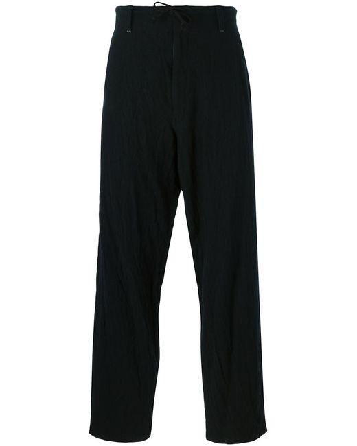 Yohji Yamamoto | Мужское Чёрный Drawstring Trousers