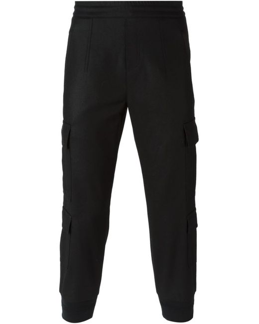 Neil Barrett | Мужское Чёрный Tapered Cargo Trousers
