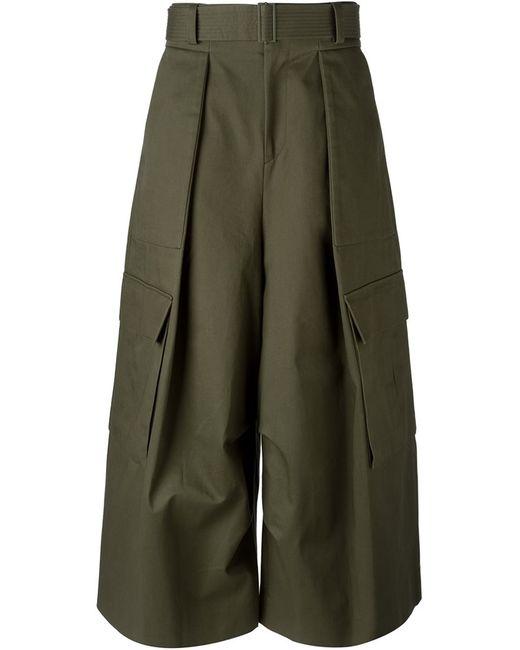 JUUN.J | Зелёный Wide Leg Cargo Trousers