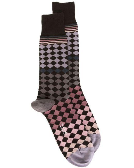 Paul Smith | Мужское Многоцветный Geometric Pattern Socks