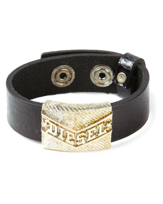 Diesel | Мужское Чёрный Logo Detail Bracelet