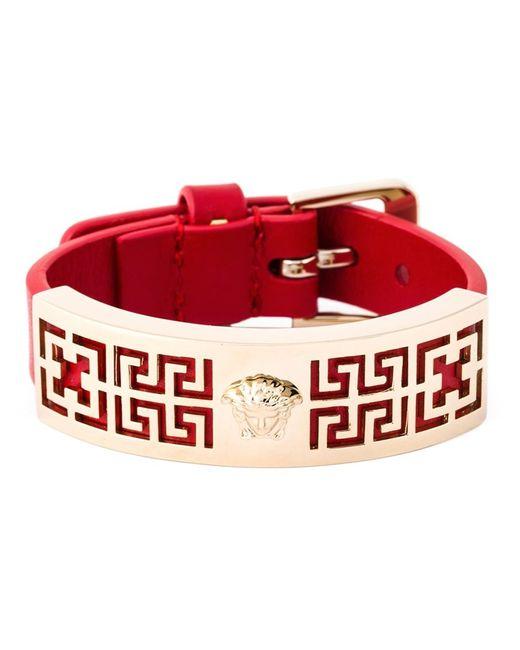 Versace   Женское Красный Greek Bracelet