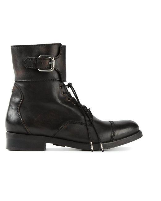 Diesel | Женские Чёрные Ботинки Bartack