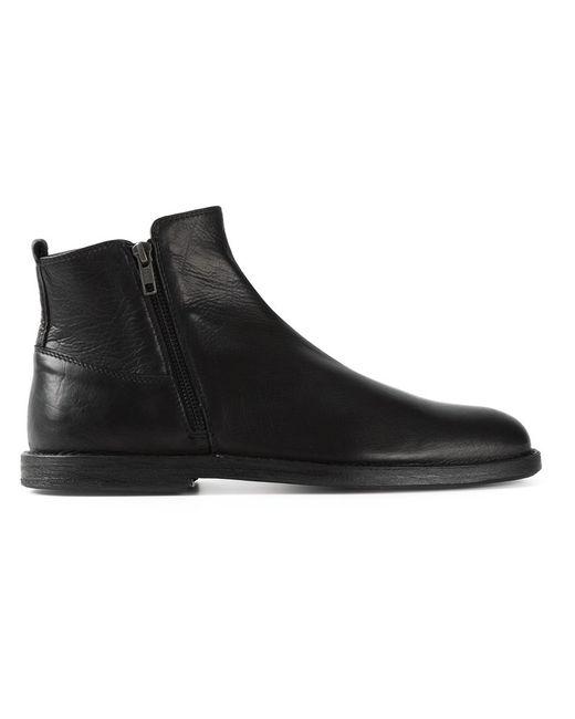 Ann Demeulemeester | Мужские Чёрные Ботинки По Щиколотку С Молнией