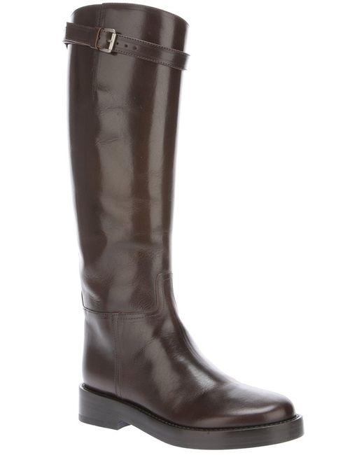 Ann Demeulemeester | Коричневый Mid-Calf Riding Boots
