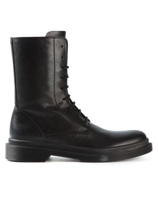 Ann Demeulemeester | Мужские Чёрные Ботинки На Шнуровке