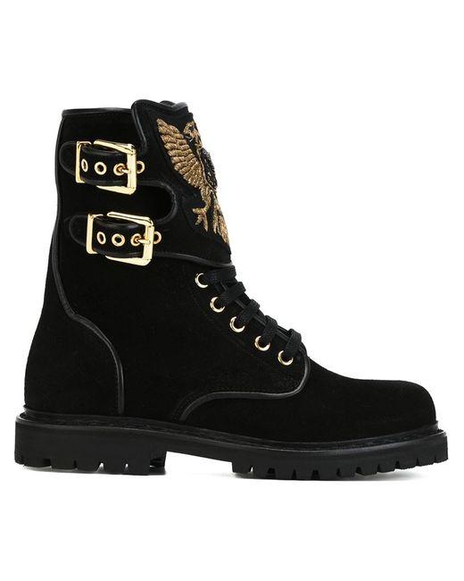 Balmain | Женское Чёрный Embroidered Tongue Boots