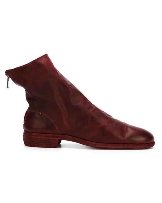 GUIDI | Красный Zip Up Boots