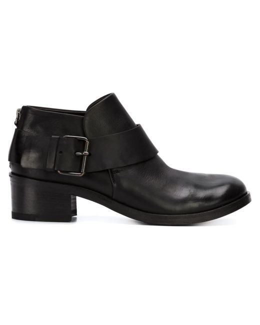 Marsell | Чёрный Buckled Ankle Boots